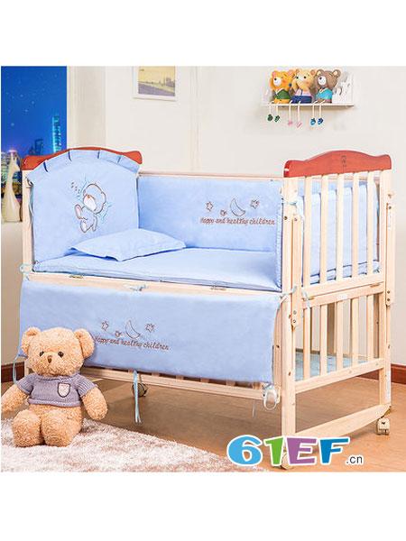 小淘星婴童用品无漆bb床拼接大床摇篮床宝宝床新生儿儿童床多功能环保
