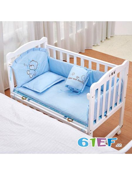 小淘星婴童用品宝宝摇篮床多功能白色小床新生儿童bb睡床拼接大床童床