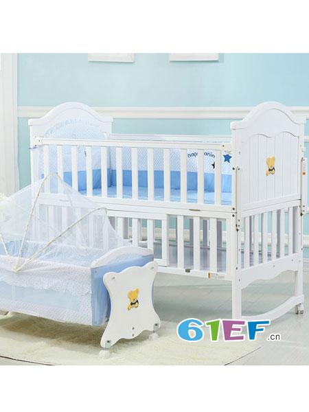 小淘星婴童用品白色欧式宝宝床多功能摇篮床bb床新生儿拼接大床