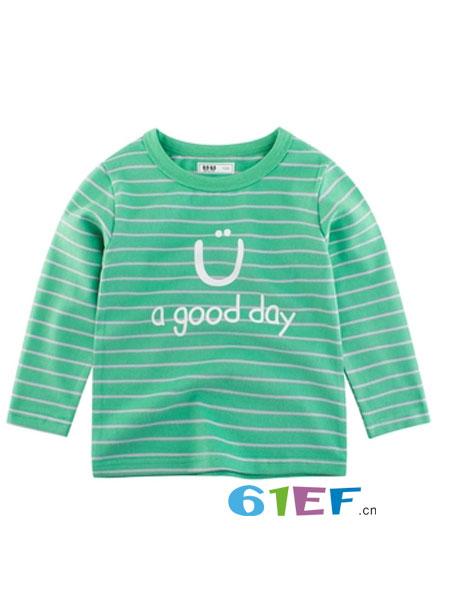 27KIDS童装品牌2019春季韩版长袖条纹T恤 宝宝洋气上衣