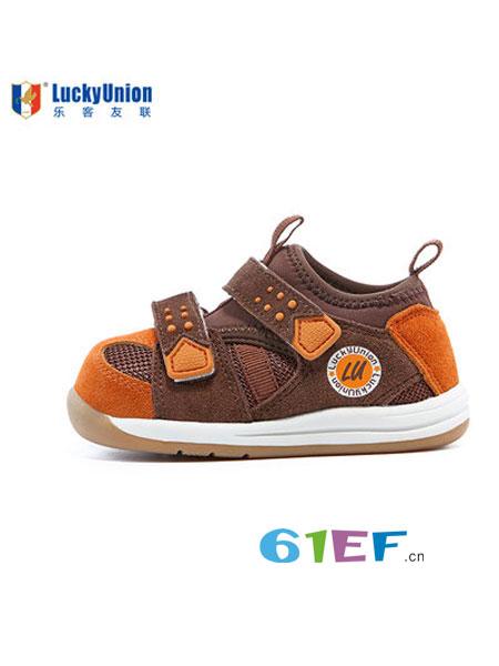 乐客友联Lucky Union童鞋婴童用品2018冬季加绒保暖户外风机能鞋