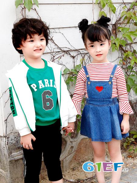 班吉鹿banjilu童装品牌2019春夏儿童复合绒笑脸字母卫衣