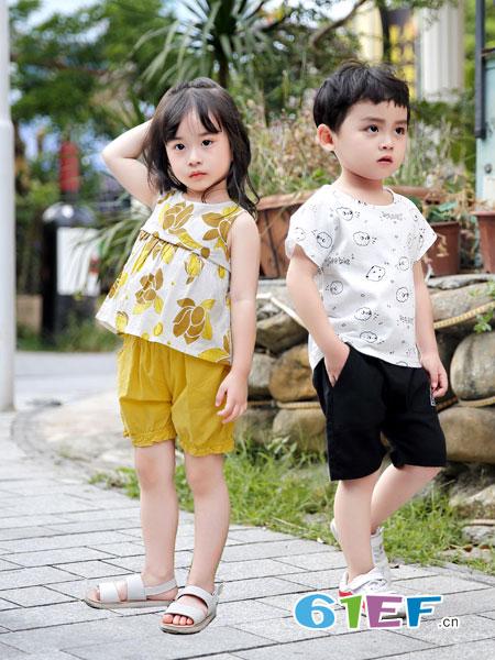 班吉鹿banjilu童装品牌2019春夏纯棉卡通可爱休闲上衣童装