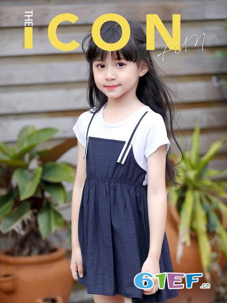 班吉鹿banjilu童装品牌2019春夏公主裙女童连衣裙短袖套装