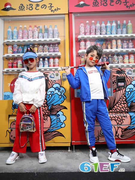 淘气贝贝童装品牌2019春季英伦风儿童班服纯棉运动服教师装中小学生校服