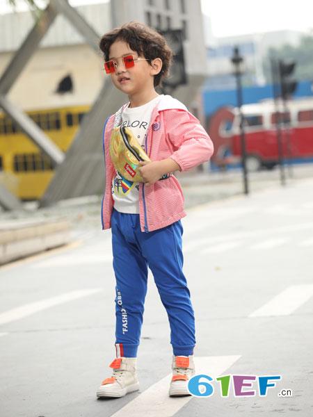 淘气贝贝童装品牌2019春季新款儿童休闲童装韩版宽松长袖中大童夹克上衣
