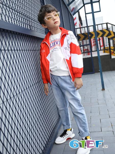 淘气贝贝童装品牌2019春季新款时髦套装洋气潮时尚