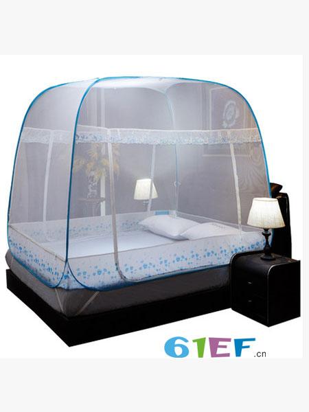 迷你屋婴童用品蒙古包蚊帐三开门拉链1.2米床1.5m床1.8m床双人家用