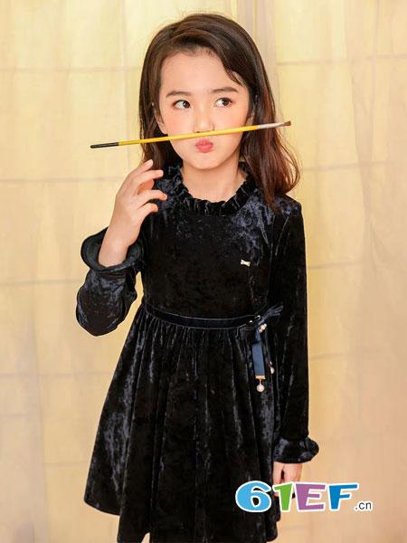 8eM童装童装品牌2019春季女童连衣裙保暖儿童公主裙洋气童装可爱