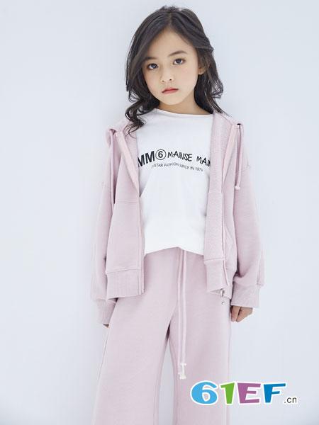 欧卡星童装品牌2019春季新款韩版宽松拉链灯笼袖连帽毛衣外套潮