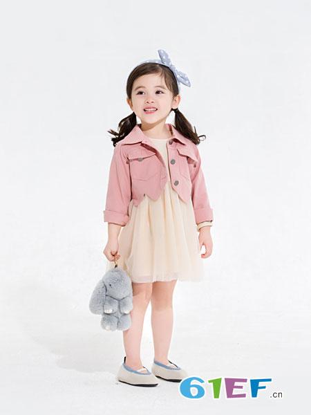 安米莉AMILRIS童装品牌2019春季新款女孩洋气套裙潮牛仔外套
