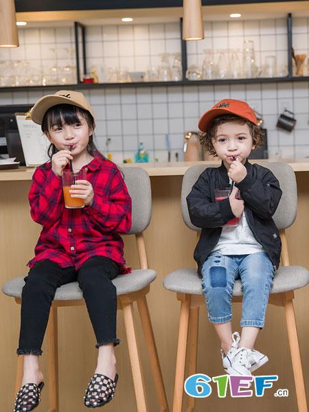 安米莉AMILRIS童装品牌2019春季新款儿童长袖衬衣休闲上衣