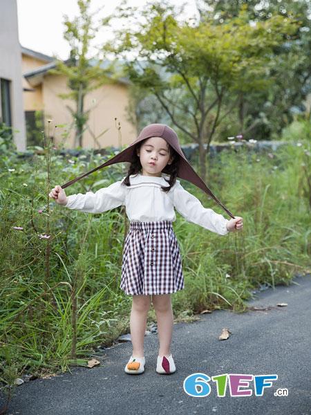 安米莉AMILRIS童装品牌2019春季时尚个性格子裙子潮