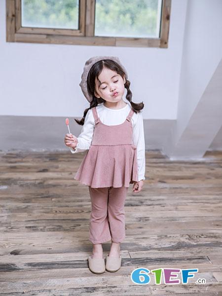 安米莉AMILRIS童装品牌2019春季时尚洋气套装潮