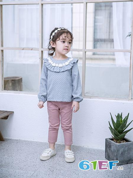 安米莉AMILRIS童装品牌2019春季打底衫儿童衬衣衬衫上衣童装
