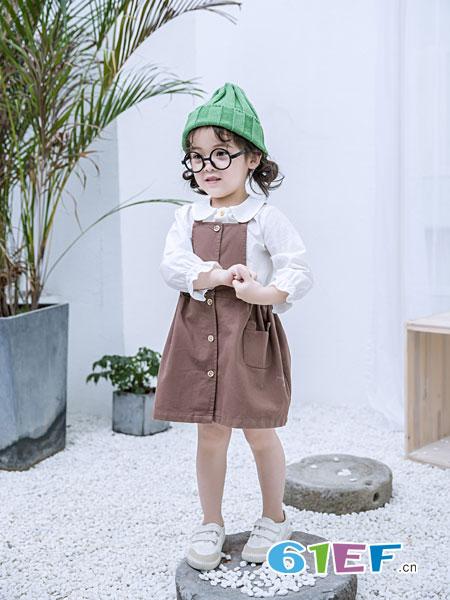 安米莉AMILRIS童装品牌2019春季不规则裙女孩韩版公主裙子