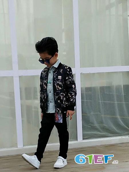 动点酷站童装品牌2018秋冬上衣新款帅气夹克衫休闲修身衣服