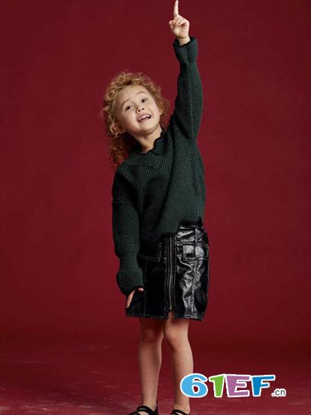 V-rules童装品牌2019春季新品女孩上衣儿童宽松毛衣套头