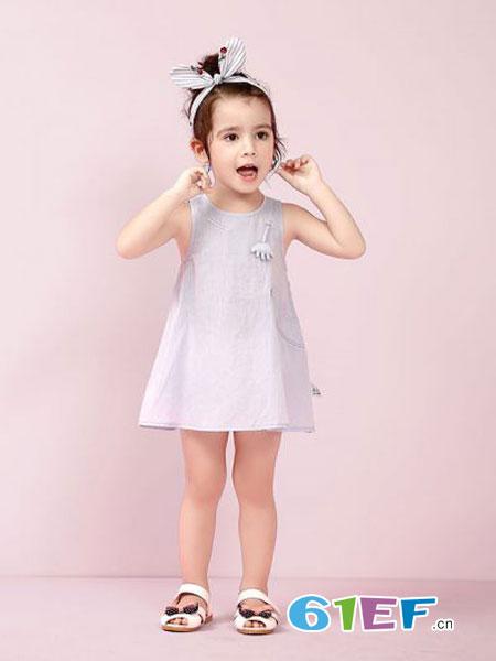 圣町顿童装品牌2019春夏新款韩版中大童裙子