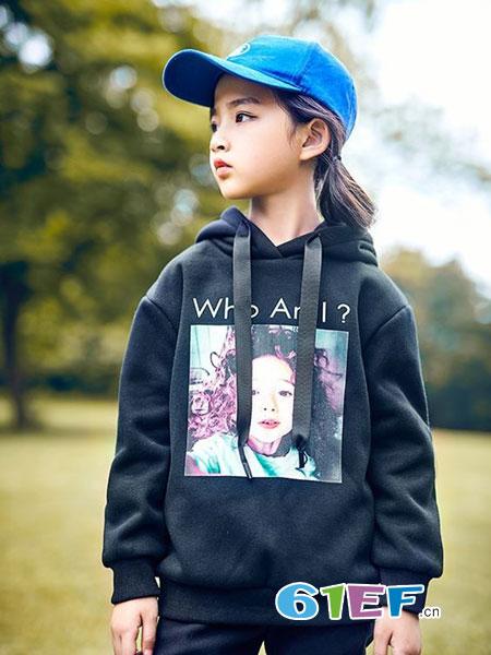 童年领域童装品牌2018秋冬儿童大童装运动长袖女孩卫衣