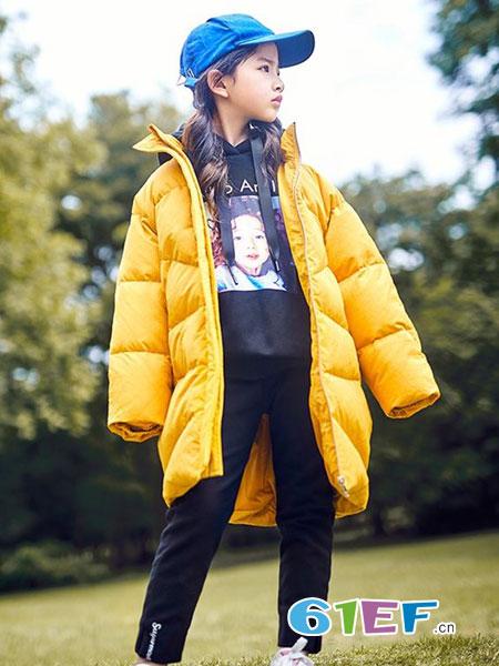 童年领域童装品牌2018秋冬中长款羽绒服外套