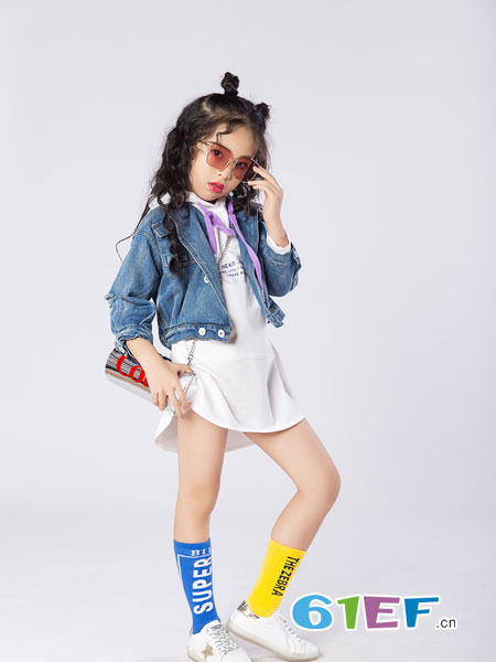 名书曼秀童装品牌2019春夏女童装洋气韩版时尚外套