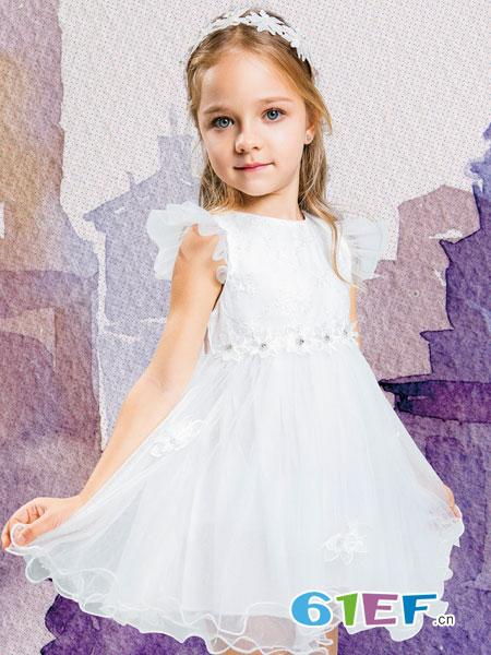 水孩儿souhait童装品牌2019春夏韩版洋气时髦凡兔童装中大童女童连衣裙