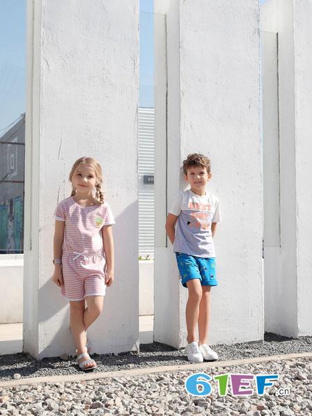 BULL BONE BULL童装品牌2019春季竹纤圆领短袖套装 夏款儿童内衣