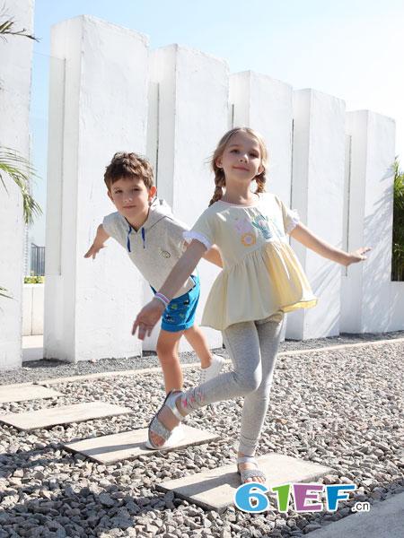 BULL BONE BULL童装品牌2019春季套装儿童短裤运动服两件套