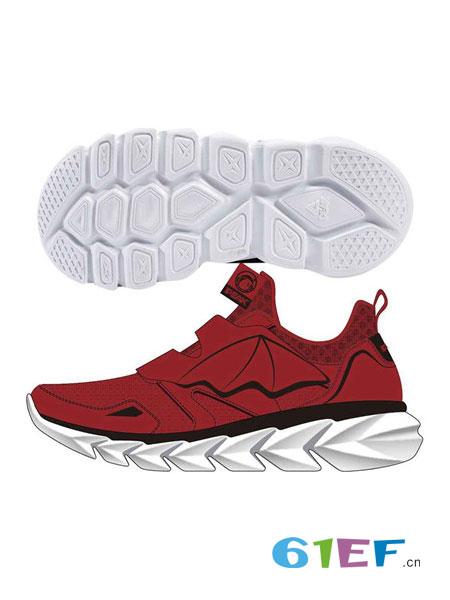 匹克儿童童鞋品牌2019春季新款时尚舒适休闲运动鞋红色