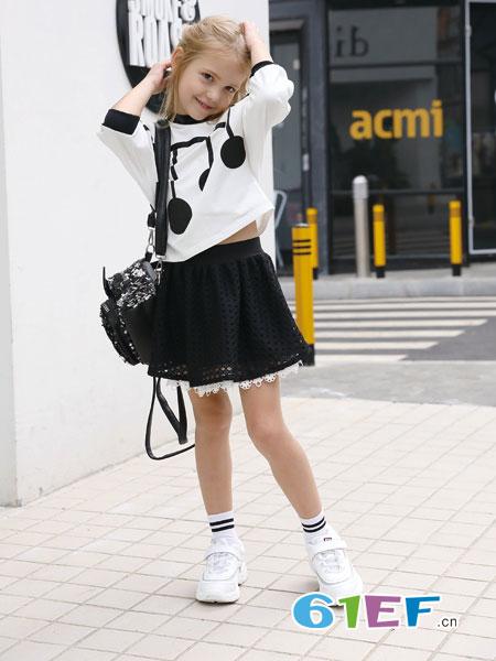 芭乐兔童装品牌2019春季新款韩版儿童洋气时髦两件套潮