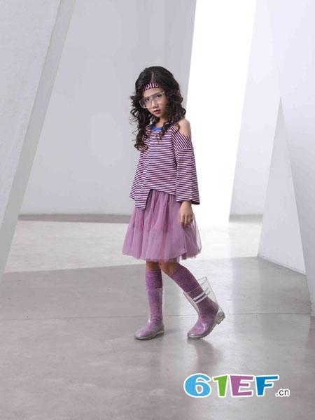 下一个奇迹童装品牌2019春夏条纹儿童宽松T恤