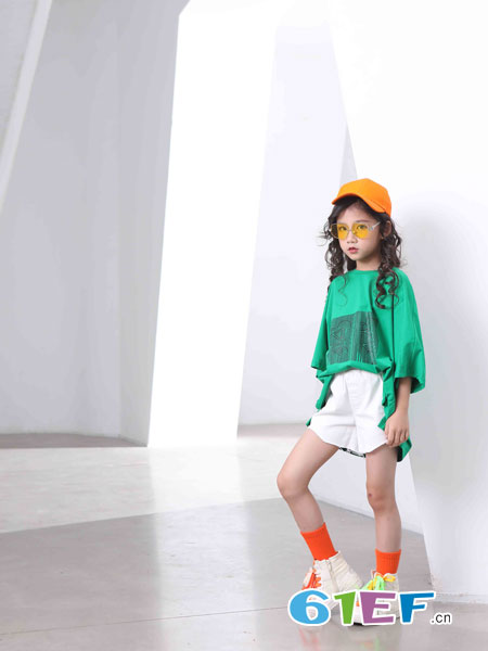 下一个奇迹童装品牌2019春夏休闲运动阔腿裤套装