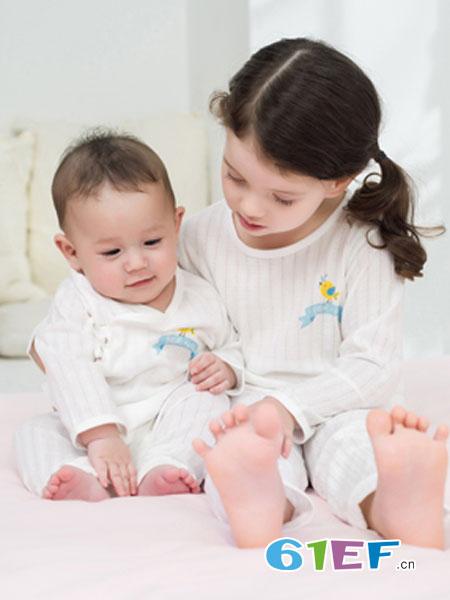 童眠童棉BLUEKIDS童装品牌2019春季薄款纯棉新生儿连身衣婴儿睡衣