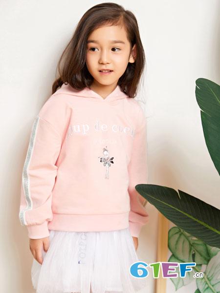 poipoilu(泡泡噜)童装品牌2019春季中大童卫衣裙儿童打底衫长袖