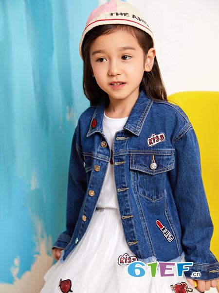 poipoilu(泡泡噜)童装品牌2019春季新款中大童儿童时尚贴布绣标上衣