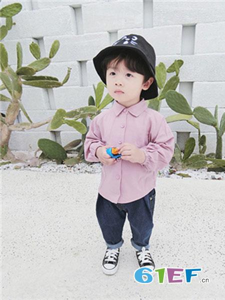 吉他猪JITAZHU童装品牌2019春季儿童韩版长袖翻领打底衫中大童春秋装上衣潮