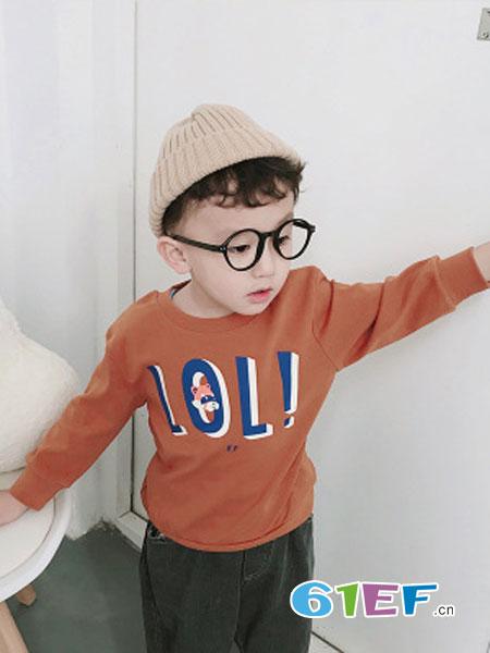 海潮儿童装品牌2019春季儿童小浣熊卫衣