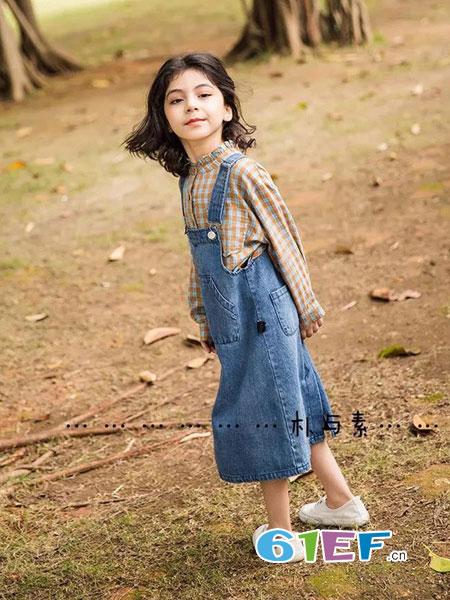 朴与素童装品牌2019春季儿童裤休闲裤长裤潮