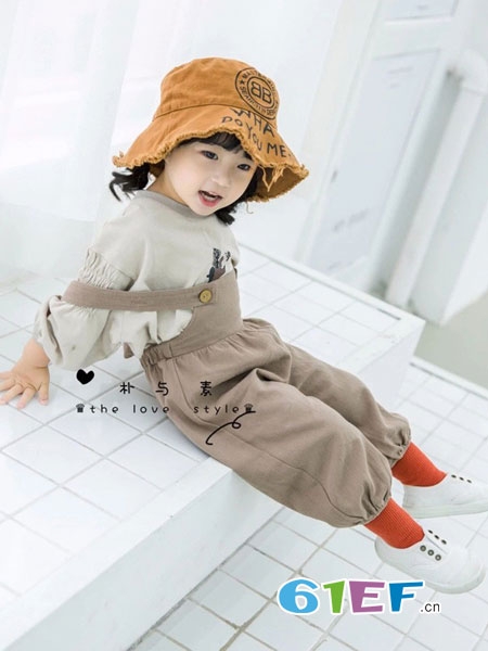 朴与素童装品牌2019春季新款名媛灯笼袖气质系带绣花连衣裙