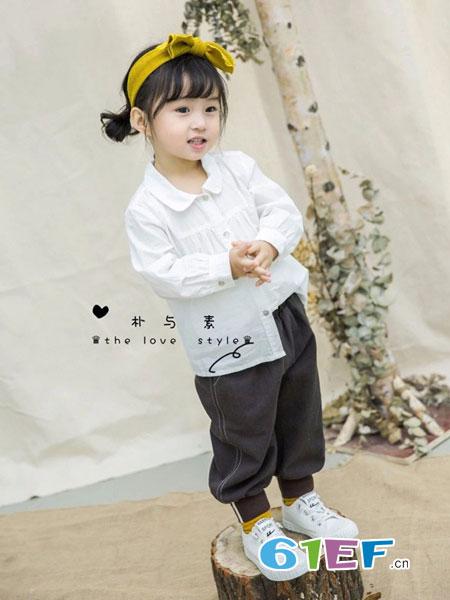 朴与素童装品牌2019春季卡通气质舒适潮流可爱百搭新款白衬衫