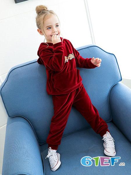 字母贝贝童装品牌2019秋冬装韩版儿童卫衣两件套潮衣