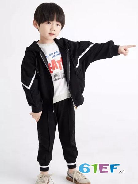菲丁波特童装品牌2019春季新款儿童洋气两件套运动时髦套装