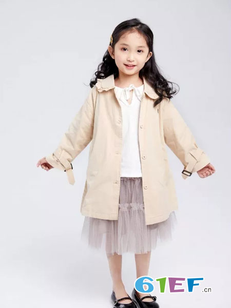 菲丁波特童装品牌2019春季洋气儿童公主中大童韩版时尚风衣