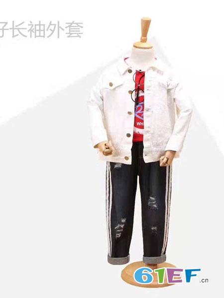 伊顿风尚童装品牌2019春季新款品牌圆领衬衫
