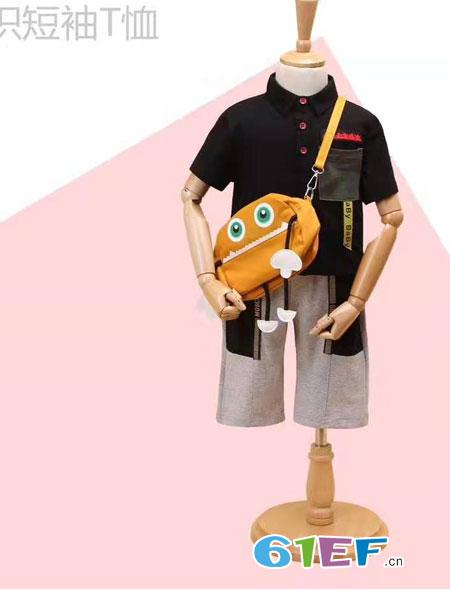 伊顿风尚童装品牌2019春季童潮酷内搭休闲男T恤