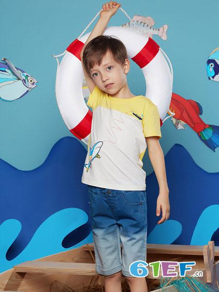 MarColor童装品牌2019春夏休闲打底衫上衣潮