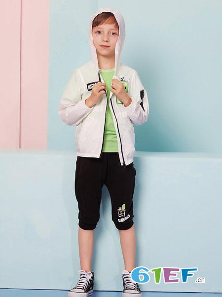 MarColor童装品牌2019春夏修身型外套 毛毡绣薄