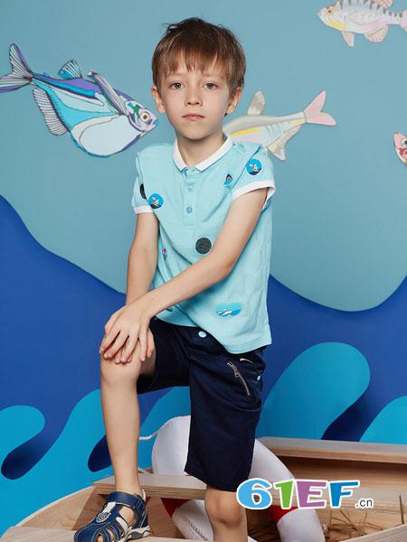 MarColor童装品牌2019春夏韩版休闲短袖T恤上衣