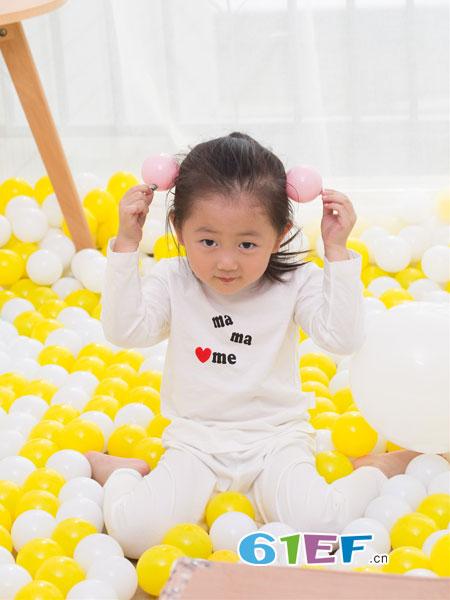 管妈妈童装品牌春夏儿童柔软精梳棉纯棉内衣套装
